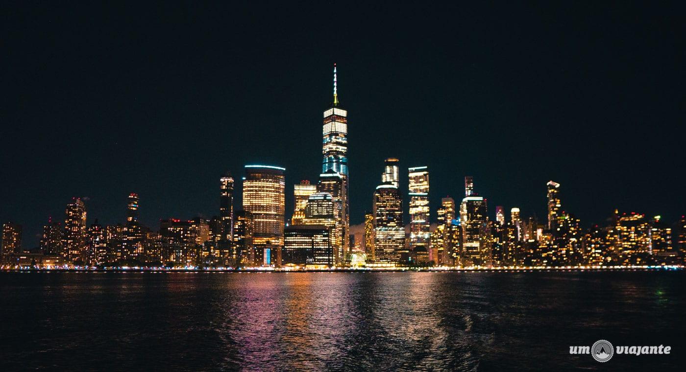 Noite no cruzeiro pelo Rio Hudson - Roteiro NYC