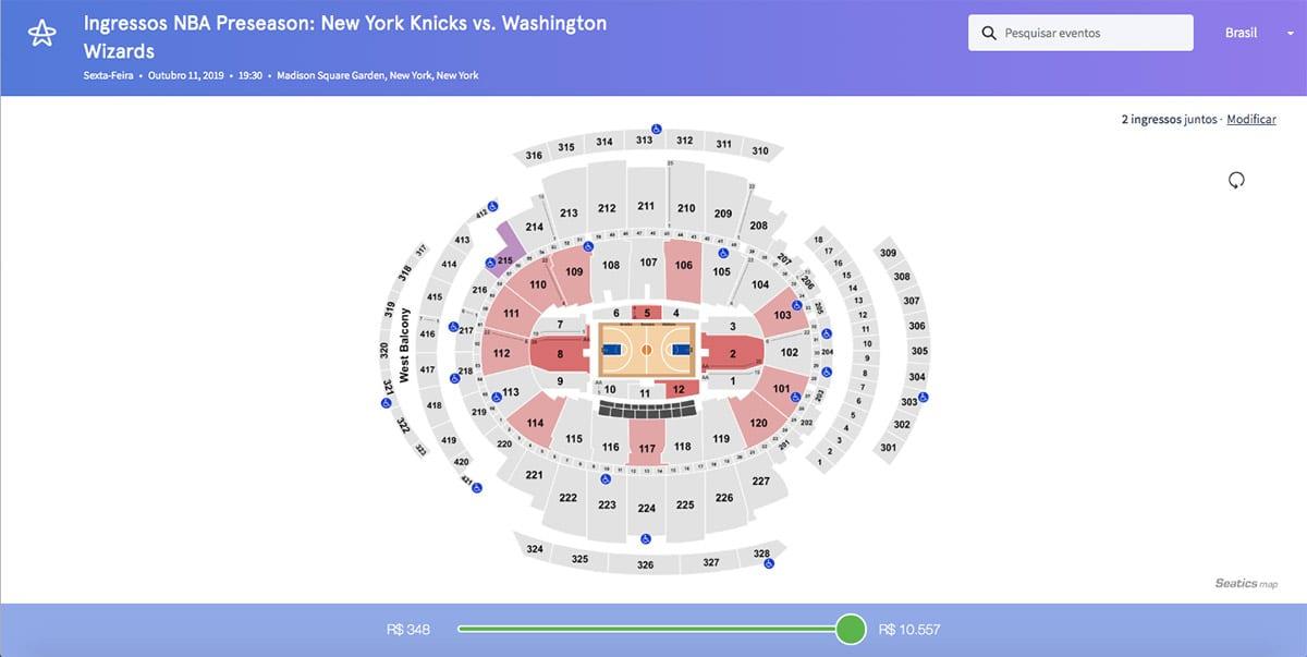 Como comprar ingressos para a NBA em Nova York?