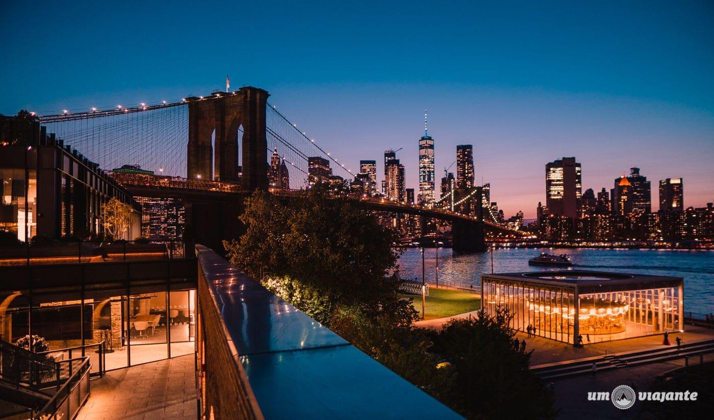 Pôr do sol em Nova York - Ponte do Brooklyn - Empire Store - Roteiro NYC