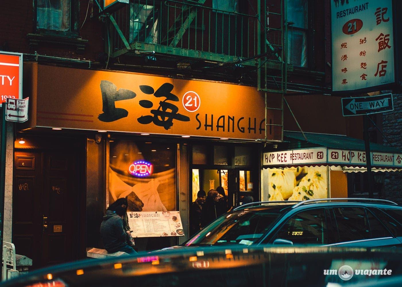 Shanghai 21 - Restaurante em Chinatown - Roteiro NYC