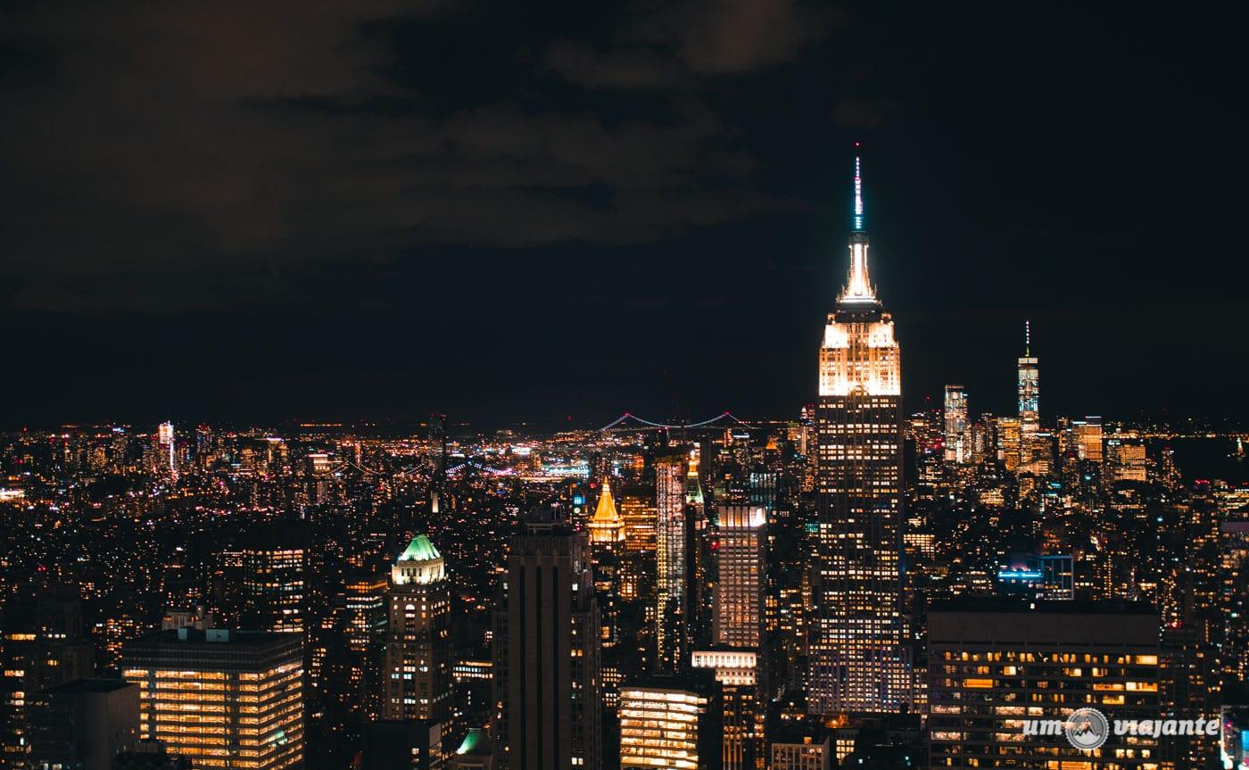Vista para o Empire State | Foto no Top of the Rock
