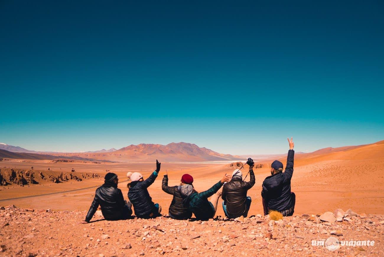 Estrada rumo as Lagunas Andinas, Atacama
