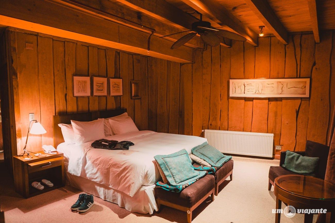 Os quartos do Hotel Nothofagus
