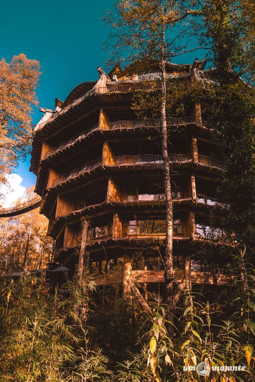 A arquitetura do hotel Nothofagus