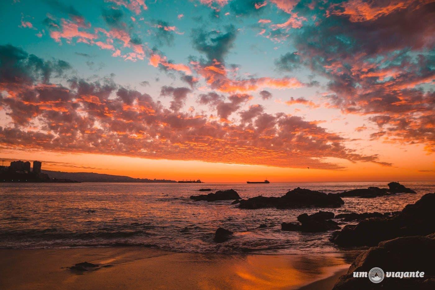 Pôr do sol em Viña del Mar, Chile