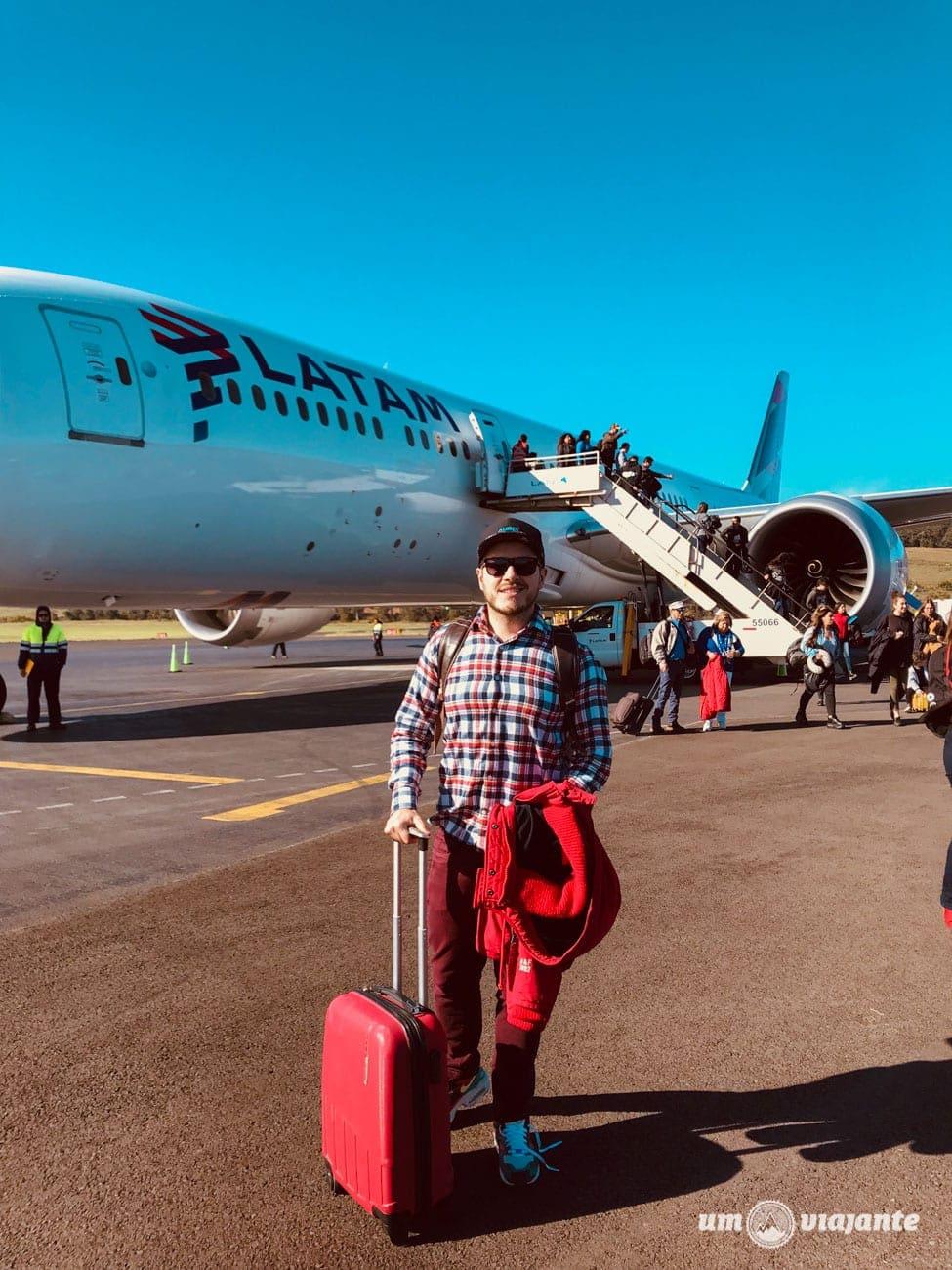 O aeroporto na Ilha de Páscoa