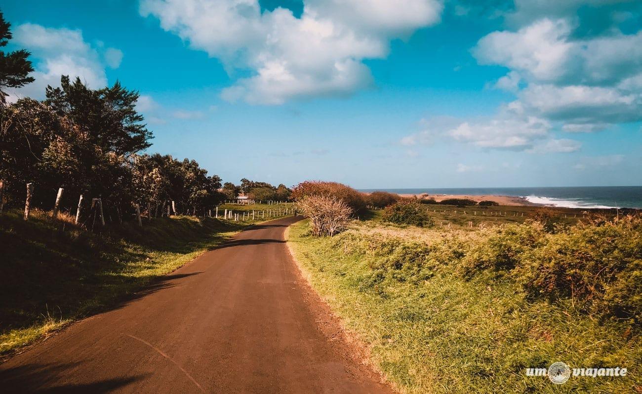 Como é a estrada na Ilha de Páscoa
