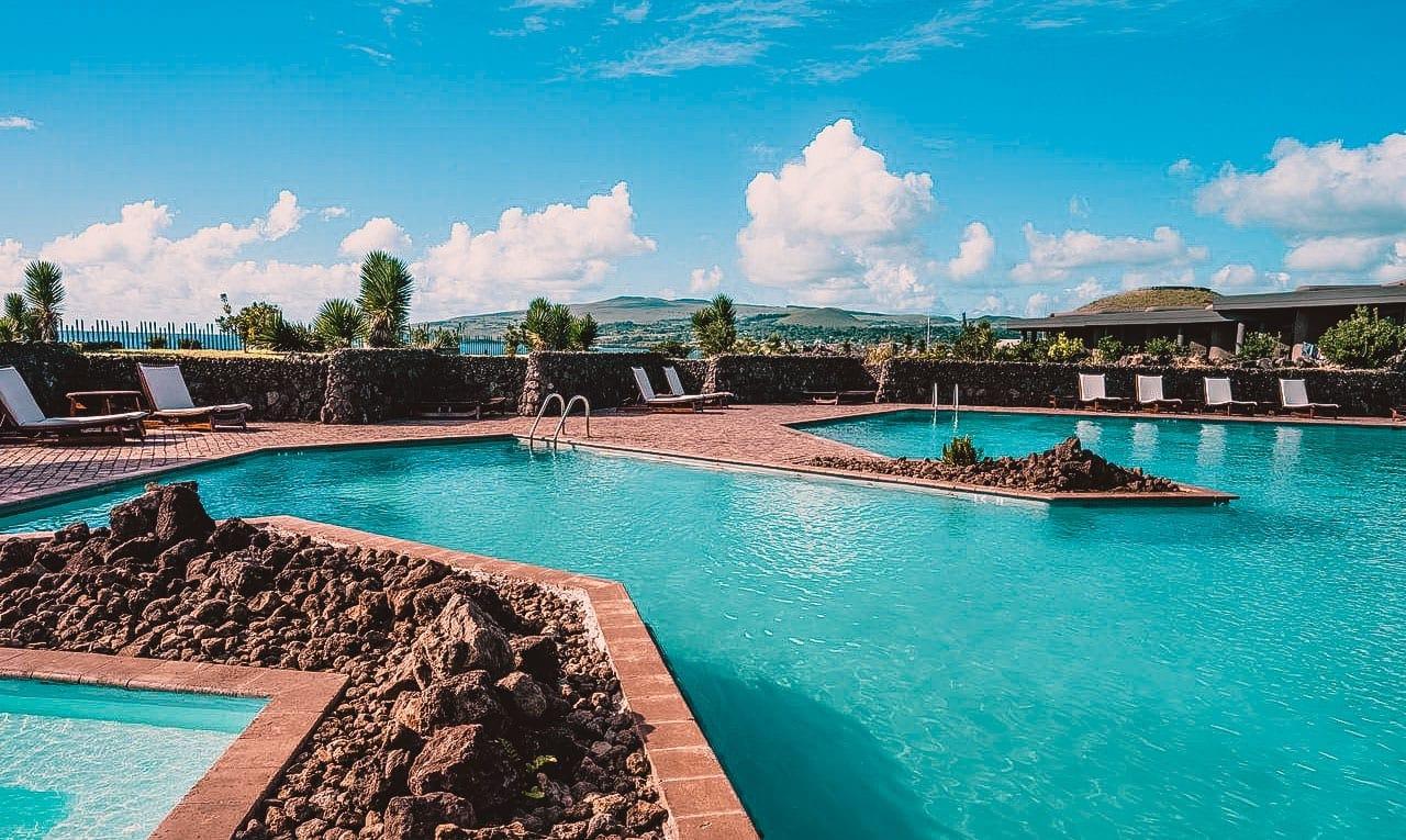 Piscina e Estrutura do Hotel Hangaroa - Ilha de Páscao