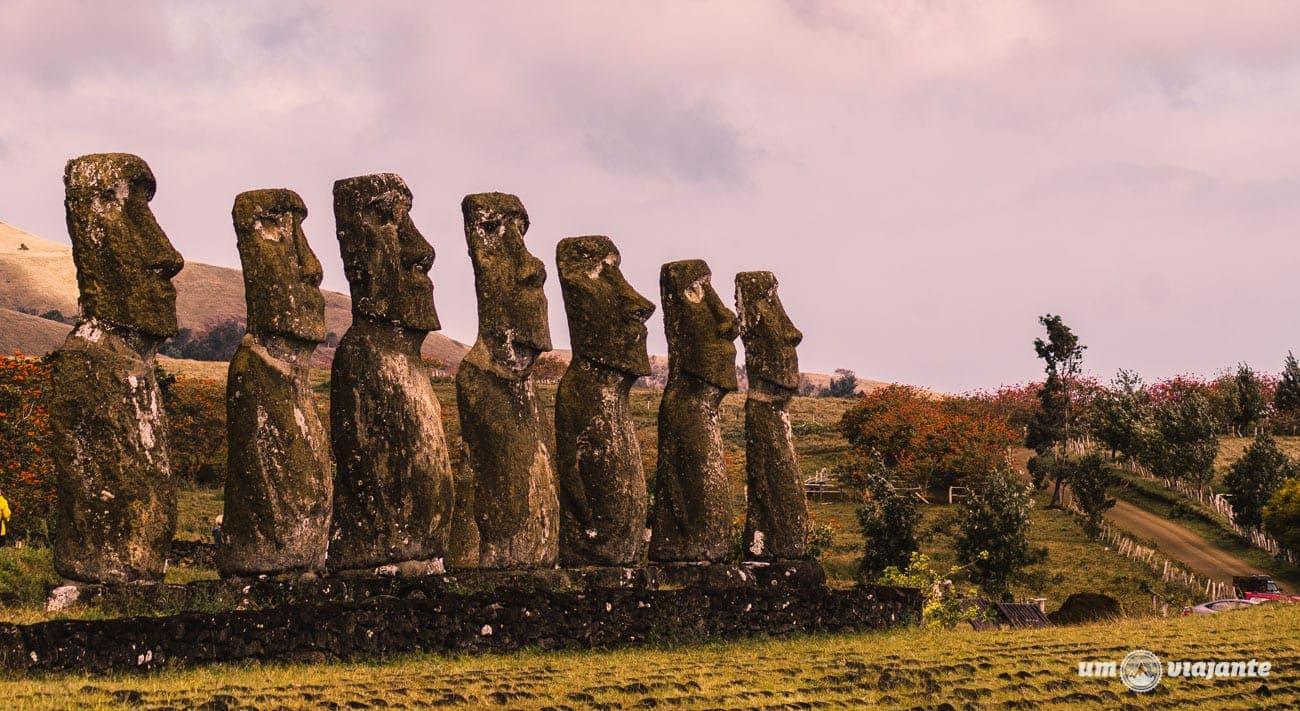Moais Ilha de Páscoa- Aju Akivi