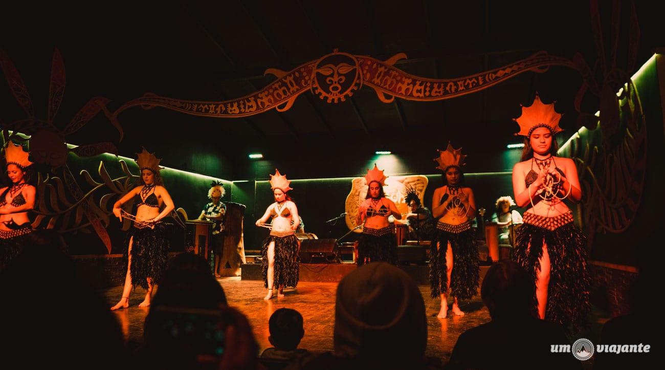 Dança típica Rapa Nui - Ilha de Páscoa