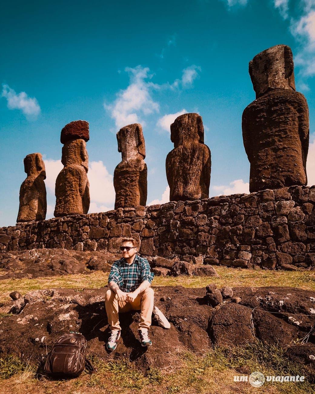 Moai Ilha de Páscoa - Ahu Tongariki