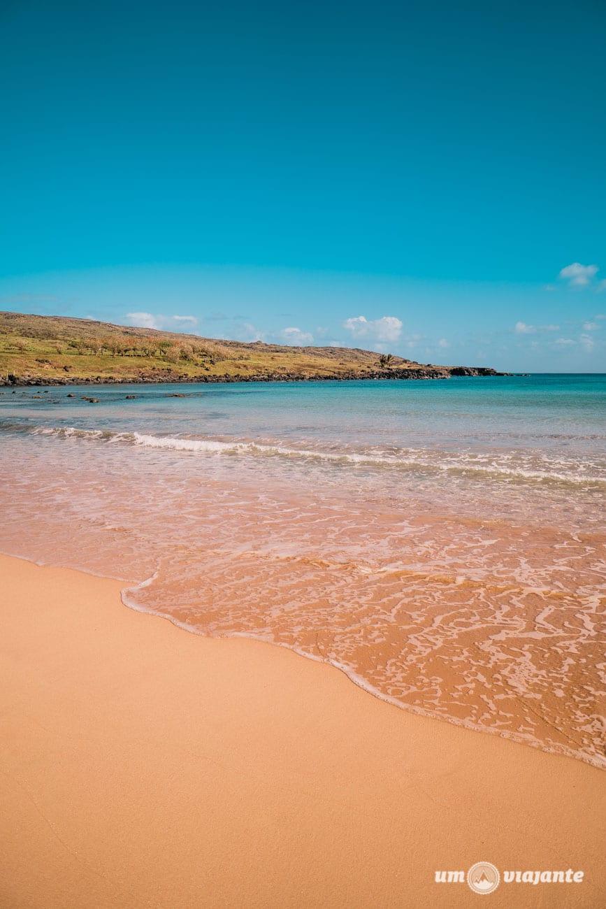 Praia de Anakena - Ilha de Páscoa