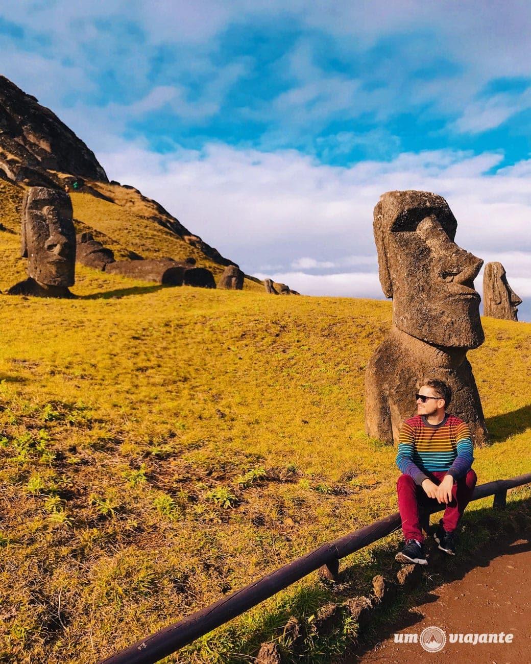 Moai Ilha de Páscoa - Rana Raraku