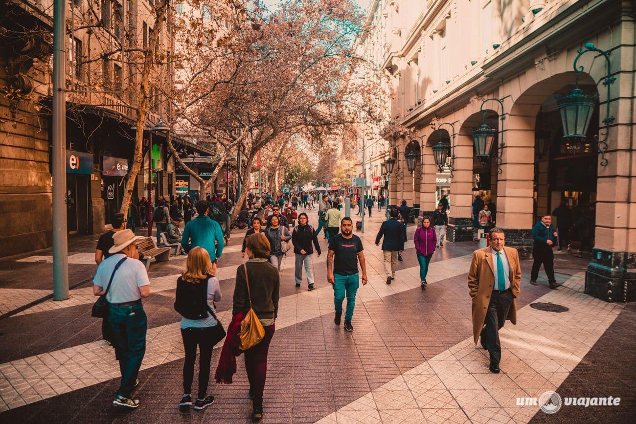 Paseo Ahumada - Centro de Santiago do Chile