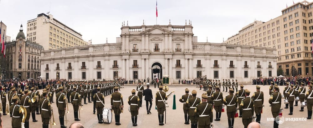 Troca da guarda em Santiago