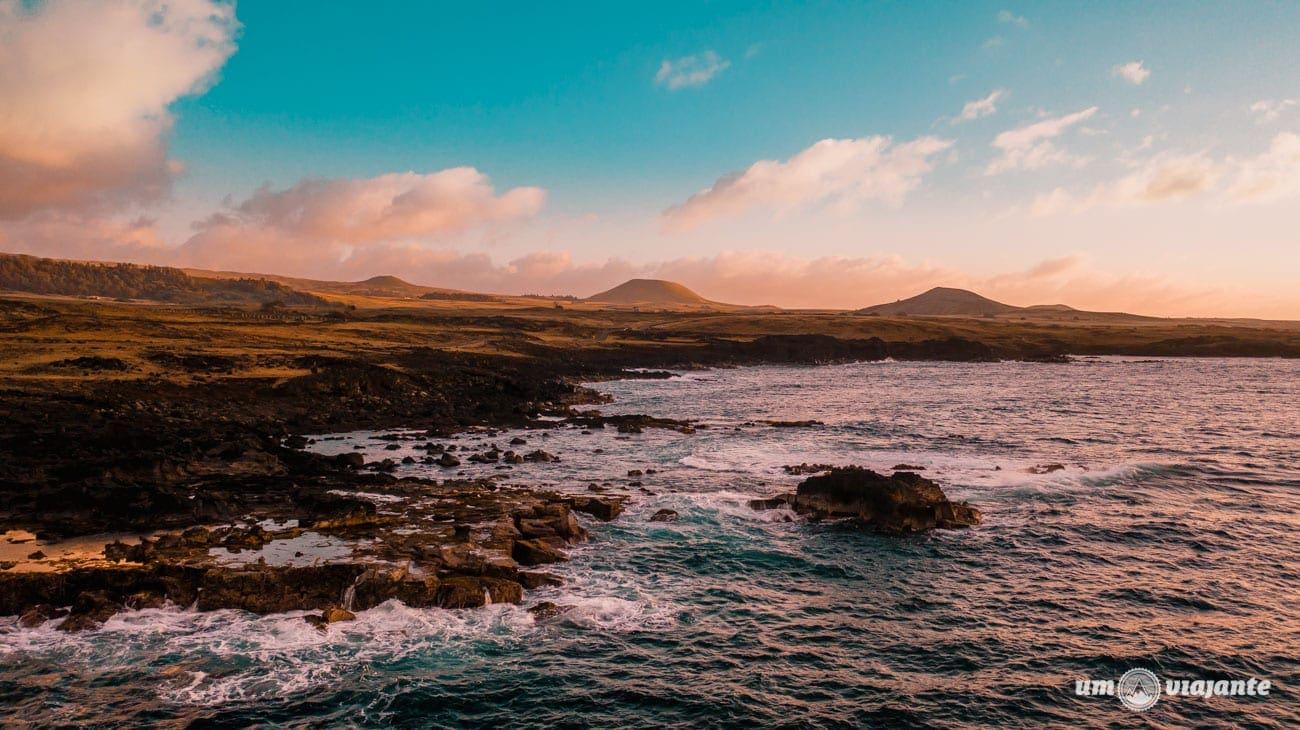 Voo de drone na Ilha de Páscoa, Chile   DJI Mavic PRO 2