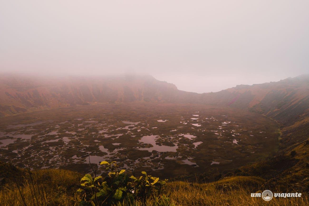 Cratera do Vulcão Rano Kau - Ilha de Páscoa