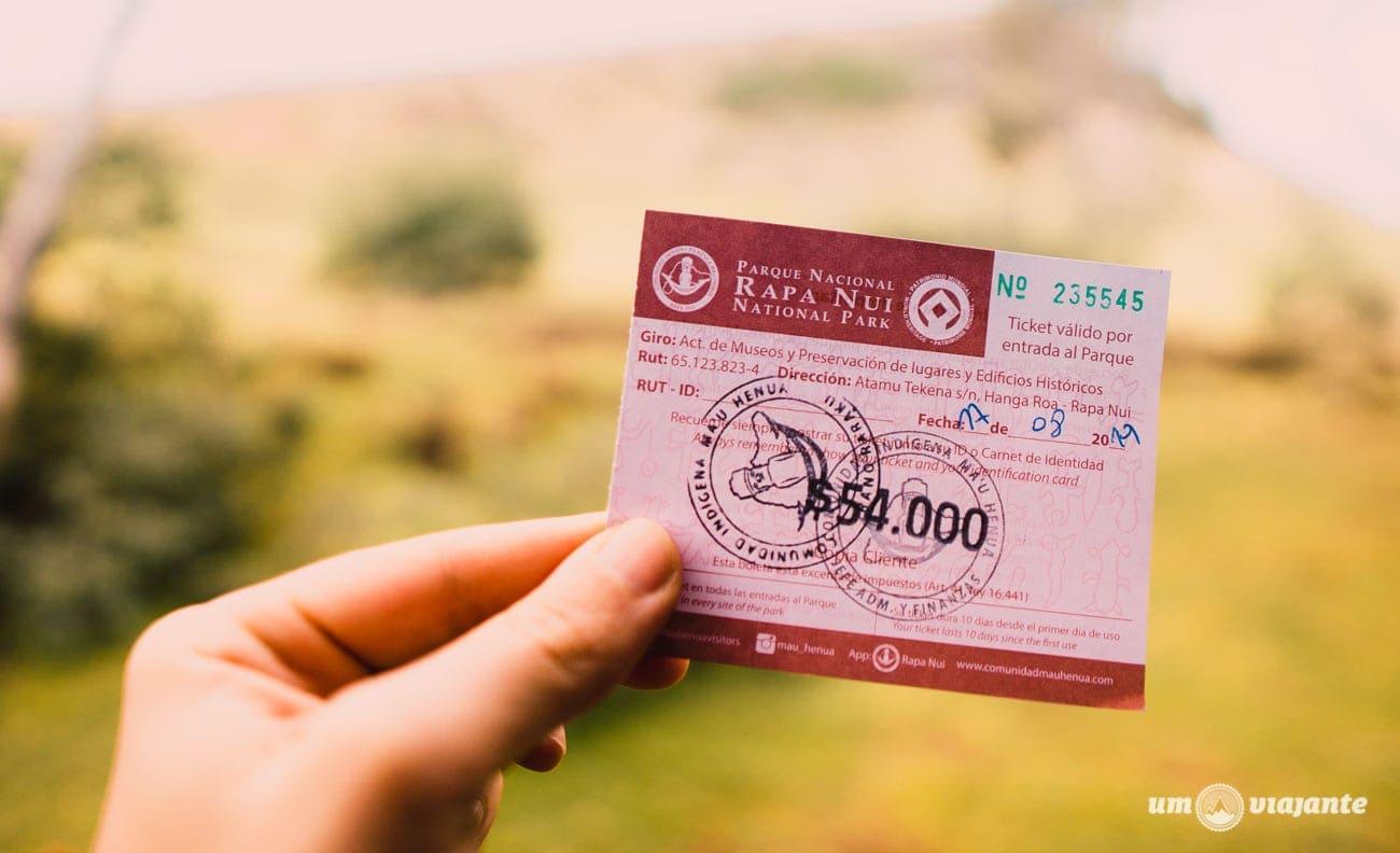 Ticket de ingresso ao Parque Nacional Rapa Nui