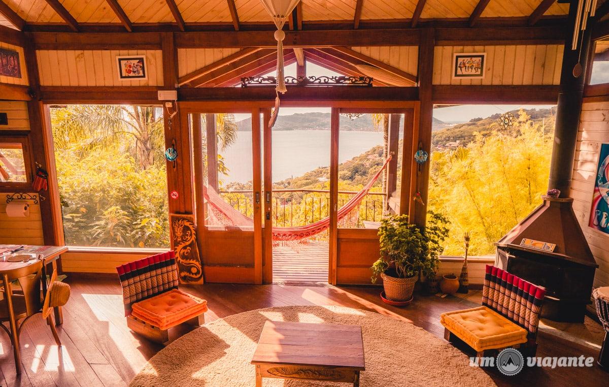 Airbnb em Florianópolis com vista para a Lagoa da Conceição com pet