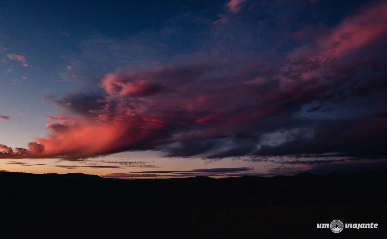 Nuvens no céu do Atacama