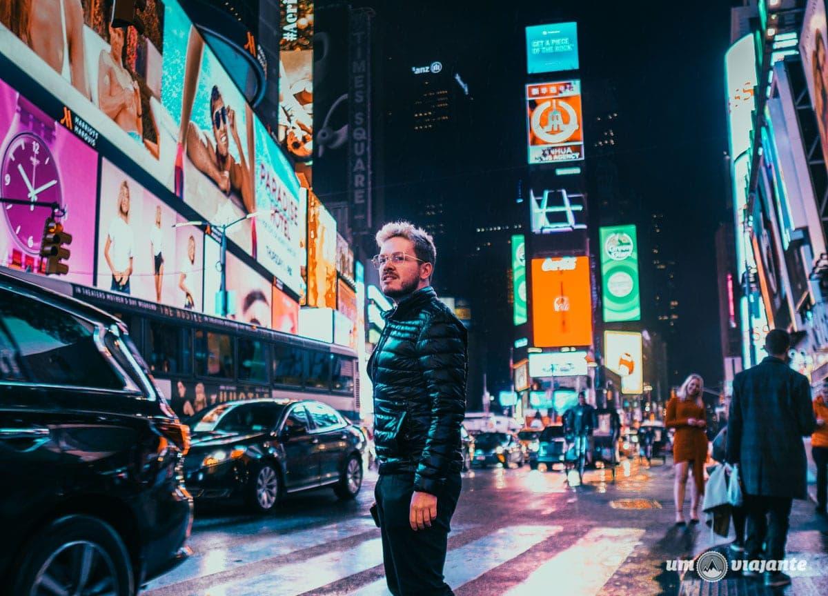 Foto na Times Square - Nova York - NYC
