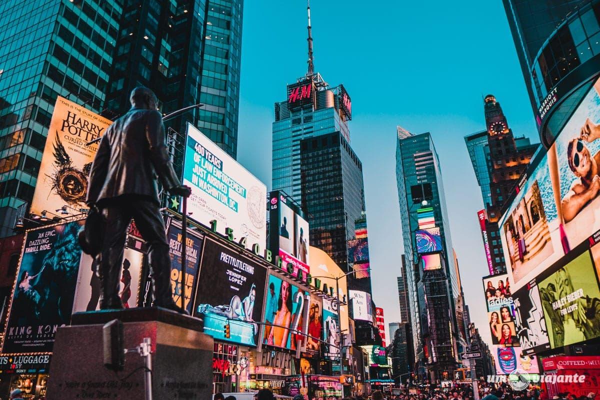 Times Square Nova York - Roteiro de 5 dias