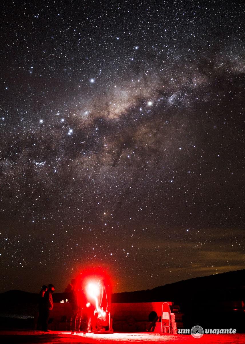 Céu estrelado no Atacama   Foto: Robson Franzói @blogumviajante