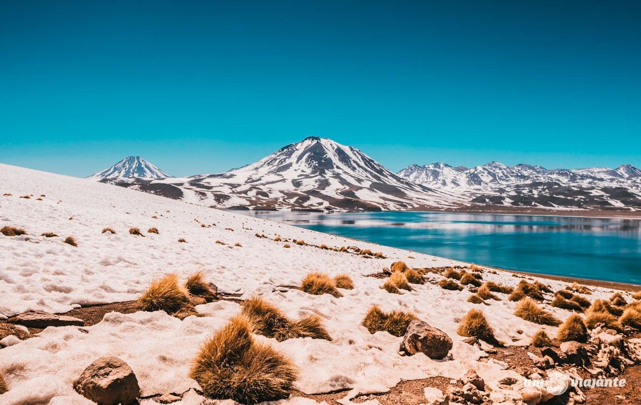 Laguna Miscanti no inverno, Deserto do Atacama   Foto: Robson Franzói @blogumviajante