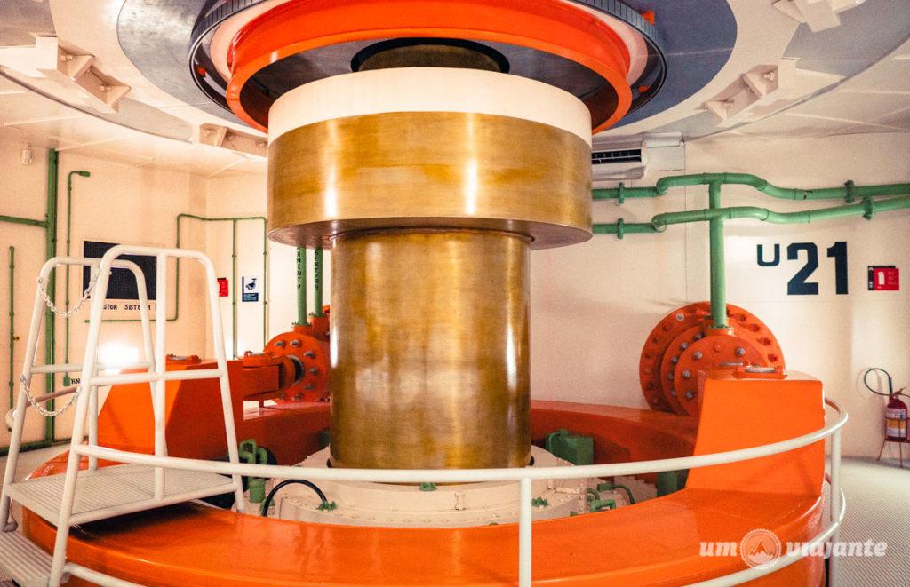 Sala do Eixo da Turbina no Ecomuseu