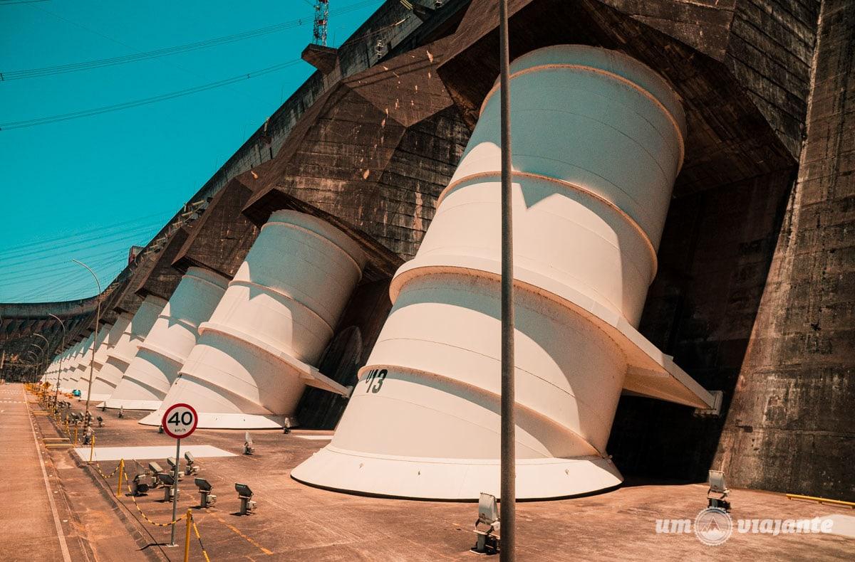 Condutos Forçados - Usina de Itaipu - Passeio Panorâmico Itaipu - Foz do Iguaçu
