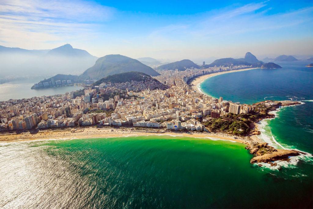 Vista aérea da Zona Sul do Rio de Janeiro